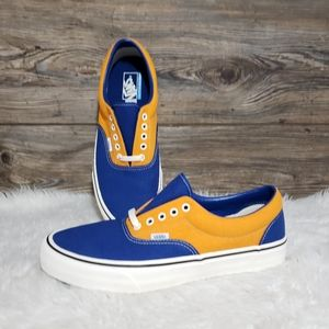 New Vans Era Salt Wash Orange Blue Sneakers